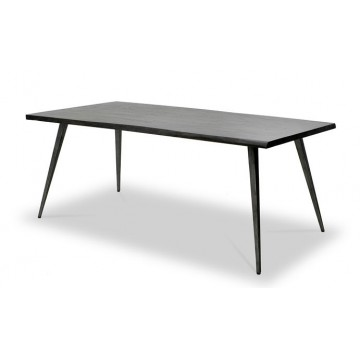 DINING TABLE ( IRON BROWN - ANTIQUE IRON )