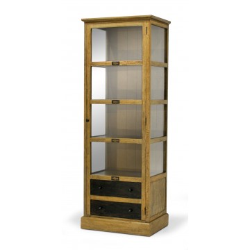 TWO TONE GLAZE DISPLAY CABINET 1DR