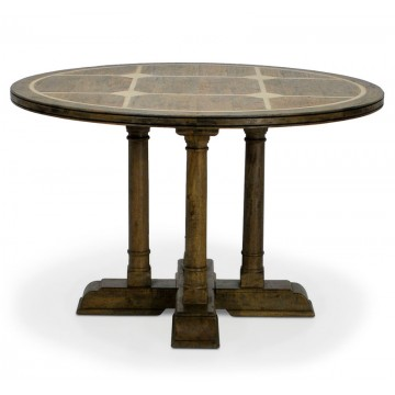 ROUND DINING TABLE WITH FLAGSTONE TOP