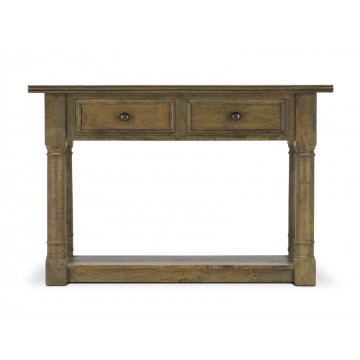 CONSOLE TABLE WITH FLAGSTONE TOP