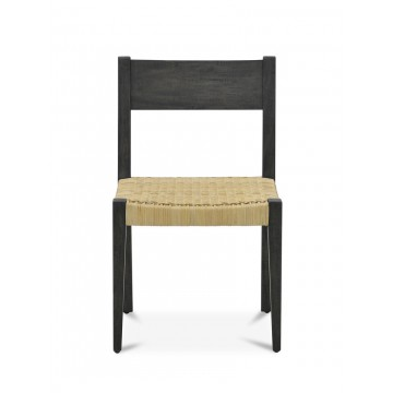 DANISH SIDE CHAIR WITH RATTAN SEAT