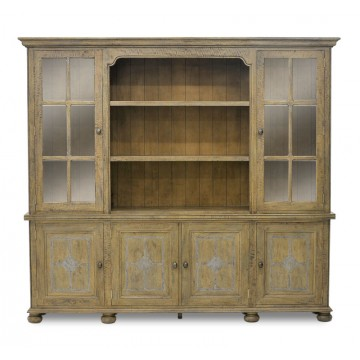 GRAND BOOKCASE 6DR WITH OPEN SHELF