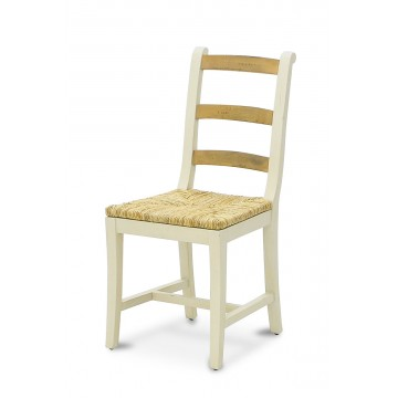 3 RUNG SIDE CHAIR WITH RUSH SEAT