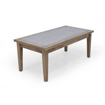 COFFEE TABLE WITH TIN TOP